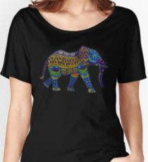 Colorful Elephant Women's Relaxed Fit T-Shirt