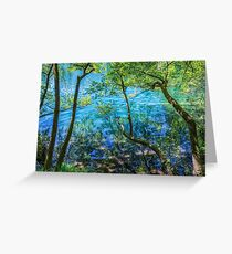 Plitvice Lakes  Greeting Card