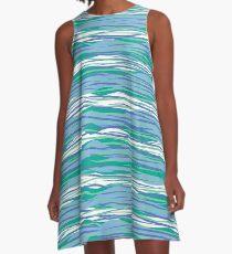 Blue Waves A-Line Dress