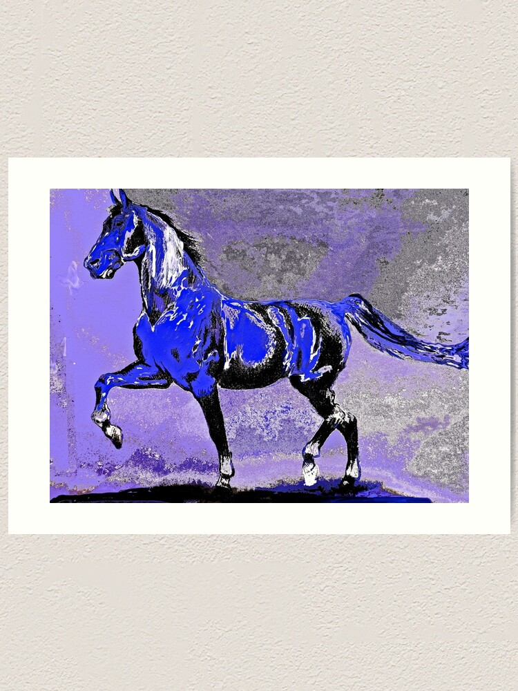 Horse Majestic Stallion Abstract Art Print By Overthetopsm Redbubble