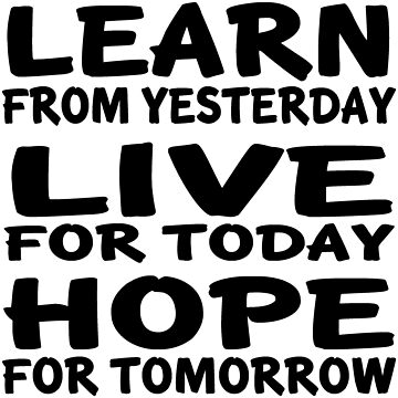 Learn Live Hope by FlyAwesome