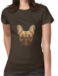 French bulldog. Womens Fitted T-Shirt