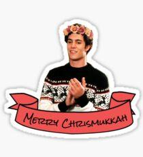merry chrismukkah seth cohen flower crown Sticker