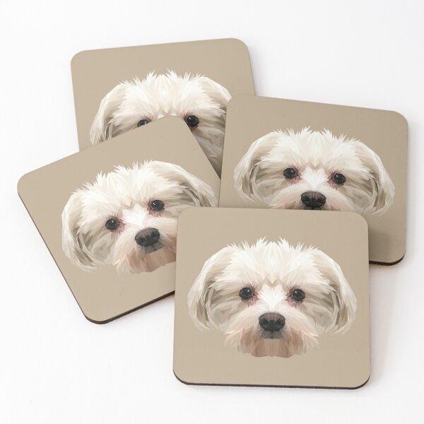 Maltese dog. Coasters (Set of 4)