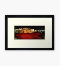 Poppies at the Tower of London -  Night Panorama Framed Print