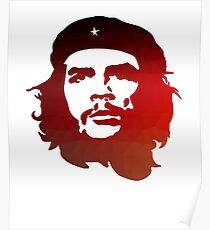 Ernesto Che Guevara Poly Design Classic Rebel Symbol  Poster