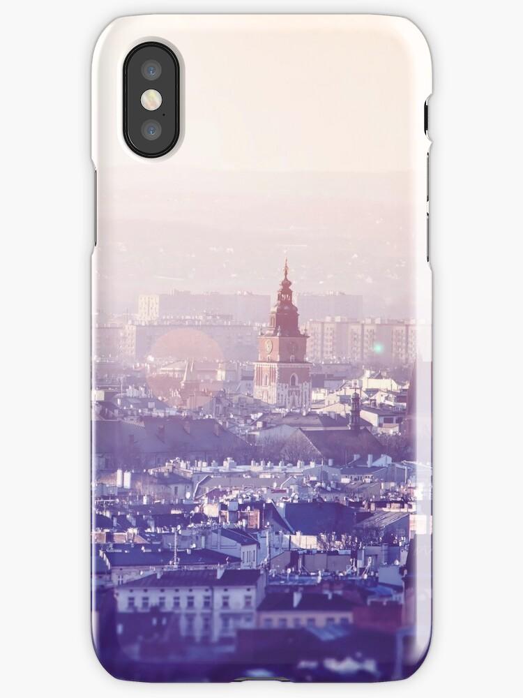 Vinilos y fundas para iPhone «Vista panorámica de la ciudad vieja en ...