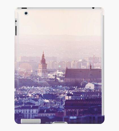 Panoramic view of Old City in Cracow at the sunset iPad Case/Skin