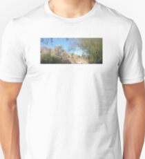 TRANQUIL SCENE TO SNOW CAP MOUNTAINS T-Shirt