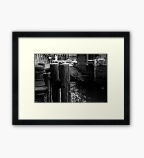 Stairs to the river 01 Framed Print
