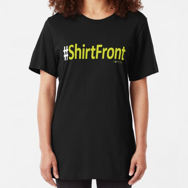 #ShirtFront – t-shirt – black Slim Fit T-Shirt