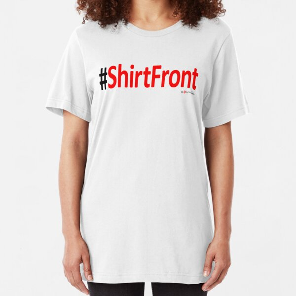 #ShirtFront - t-shirt - white Slim Fit T-Shirt