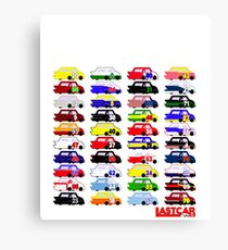 LASTCAR.info - Famous Cars Canvas Print
