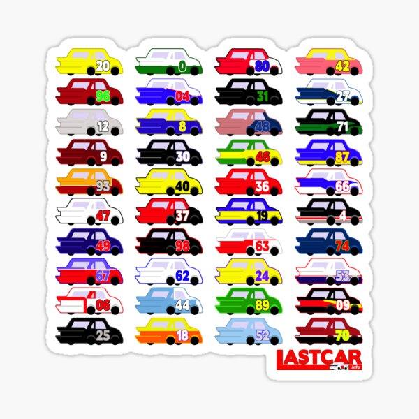 LASTCAR.info - Famous Cars Sticker