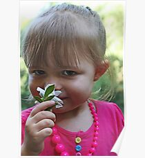 ♥ A Little Girl and One Flower ♥ Poster