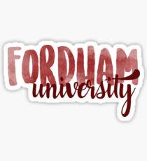 Fordham Brush Script Sticker