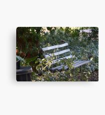 Peaceful seat. Canvas Print
