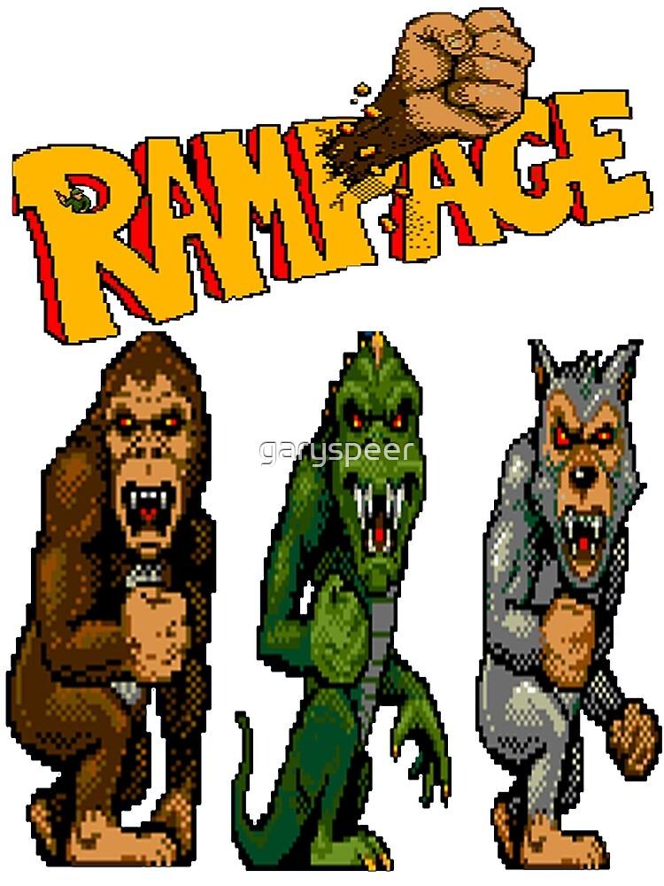 Rampage George Lizzie And Ralph Greeting Card By Garyspeer