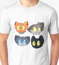 Krieger Katzen Aufkleber Set 1 Unisex T-Shirt