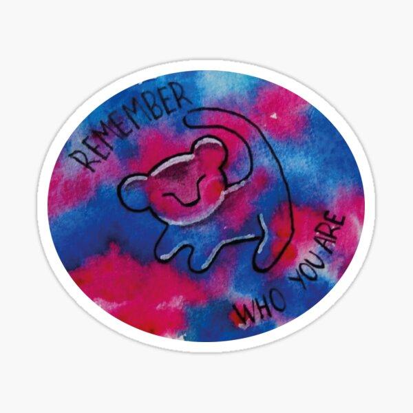 Watercolor Simba Sticker
