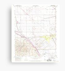 USGS TOPO Map California CA Tupman 301001 1954 24000 geo Canvas Print
