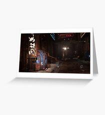 Sci-Fi alley way Greeting Card