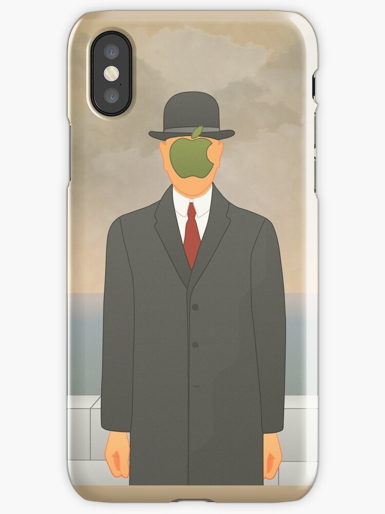 """Apple"" – Magritte inspired design by JimmysBook"