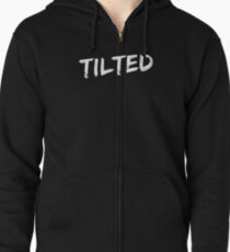 Tilted League of Legends for plebs who tilt in game tee Zipped Hoodie