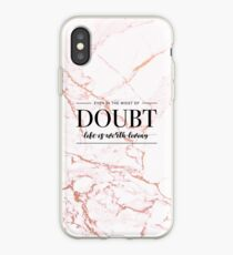 Das Leben ist lebenswert - Rose Gold Marmor iPhone-Hülle & Cover