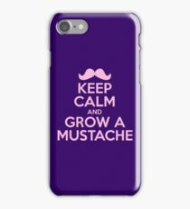 Keep Calm And Grow A Mustache iPhone Case/Skin