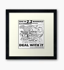 There are a lot of rodents Framed Print