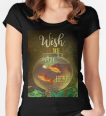 Wish You Were Here Pink Floyd Epic Rock And Roll Lyrics Inspired Retro Design Women's Fitted Scoop T-Shirt