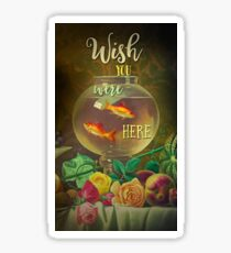 Wish You Were Here Pink Floyd Epic Rock And Roll Lyrics Inspired Retro Design Sticker