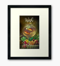 Wish You Were Here Pink Floyd Epic Rock And Roll Lyrics Inspired Retro Design Framed Print