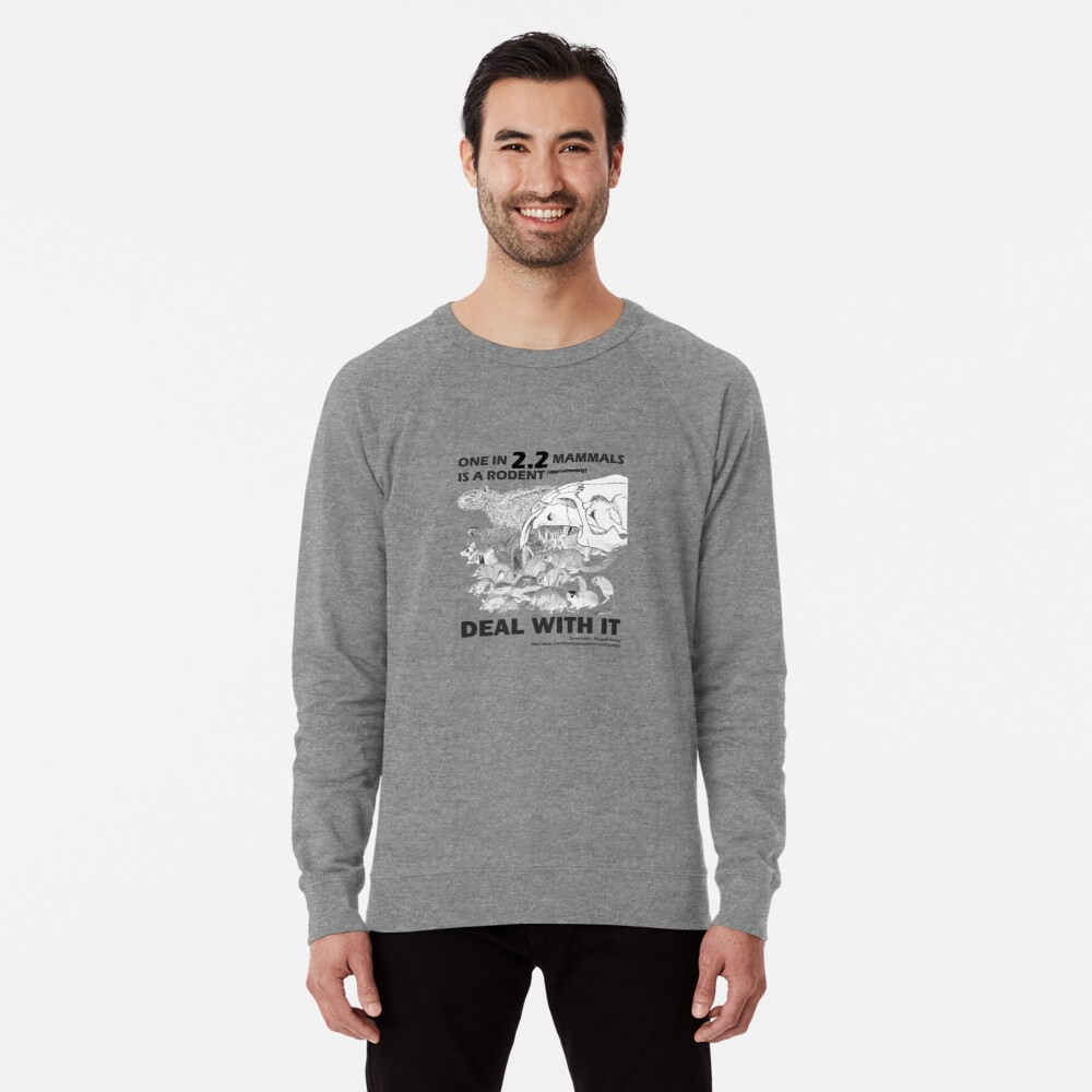 There are a lot of rodents Lightweight Sweatshirt