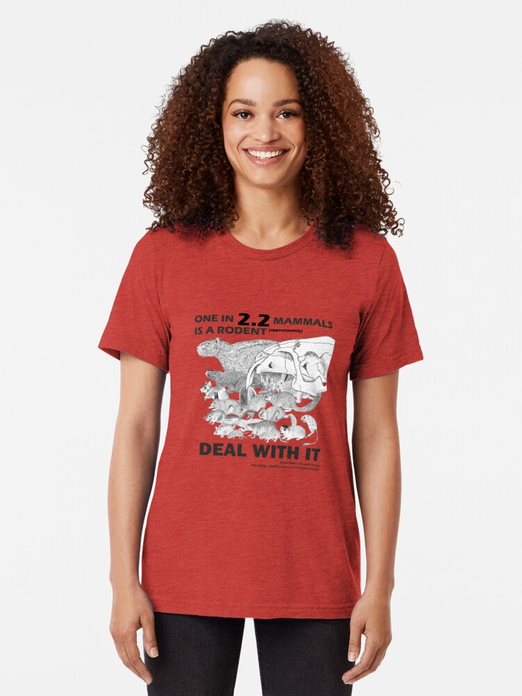 Alternate view of There are a lot of rodents Tri-blend T-Shirt