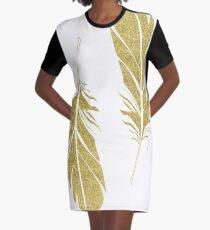 plumes Graphic T-Shirt Dress