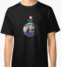 Pink Flower Sprouting On Spaceship Earth Classic T-Shirt
