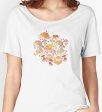Woodland Hedgehogs - a pattern in soft neutrals  Women's Relaxed Fit T-Shirt