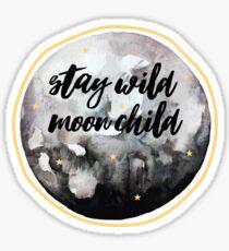 Moon Child (gold) Sticker