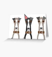 In whippets we trust Greeting Card