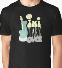 Let Jimi Take Over - Vintage Cool Hendrix Rock Typography Graphic T-Shirt