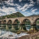 Bridge on Drina by Dobromir Dobrinov