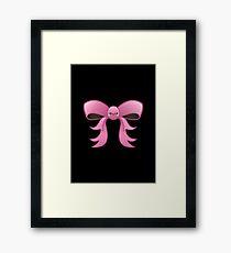 Cute Pink Kawaii Bow Framed Print