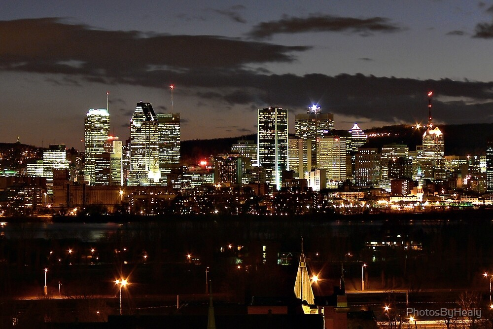 Montreal at Night by PhotosByHealy
