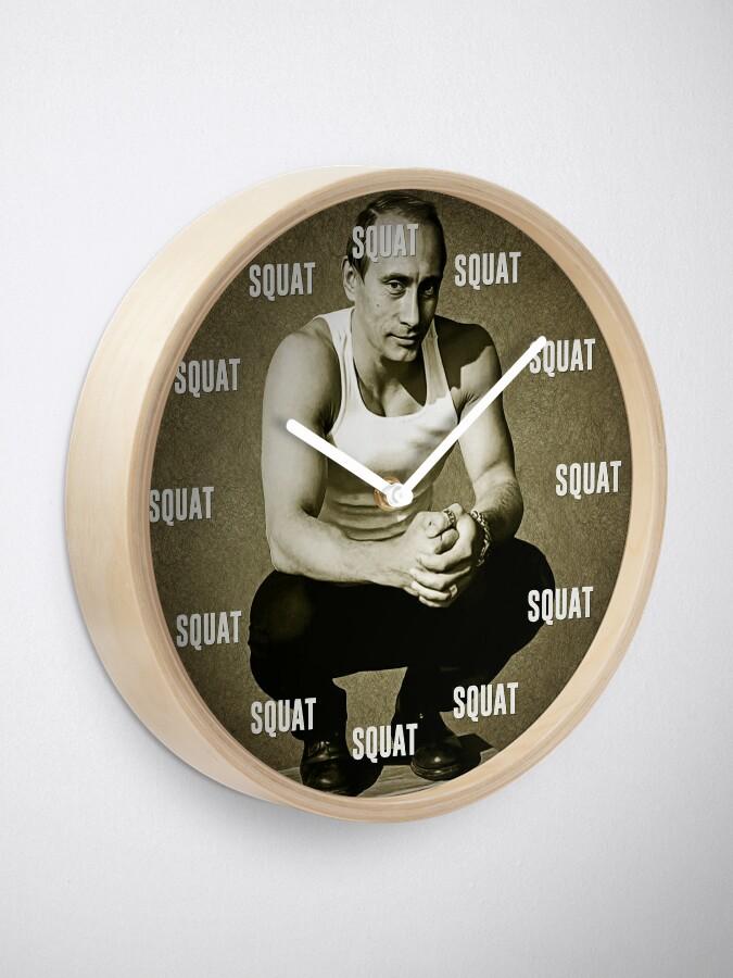 Alternate view of Squat O clock Clock
