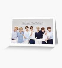"""Tarjeta de felicitación """"Feliz cumpleaños"""" - BTS"""