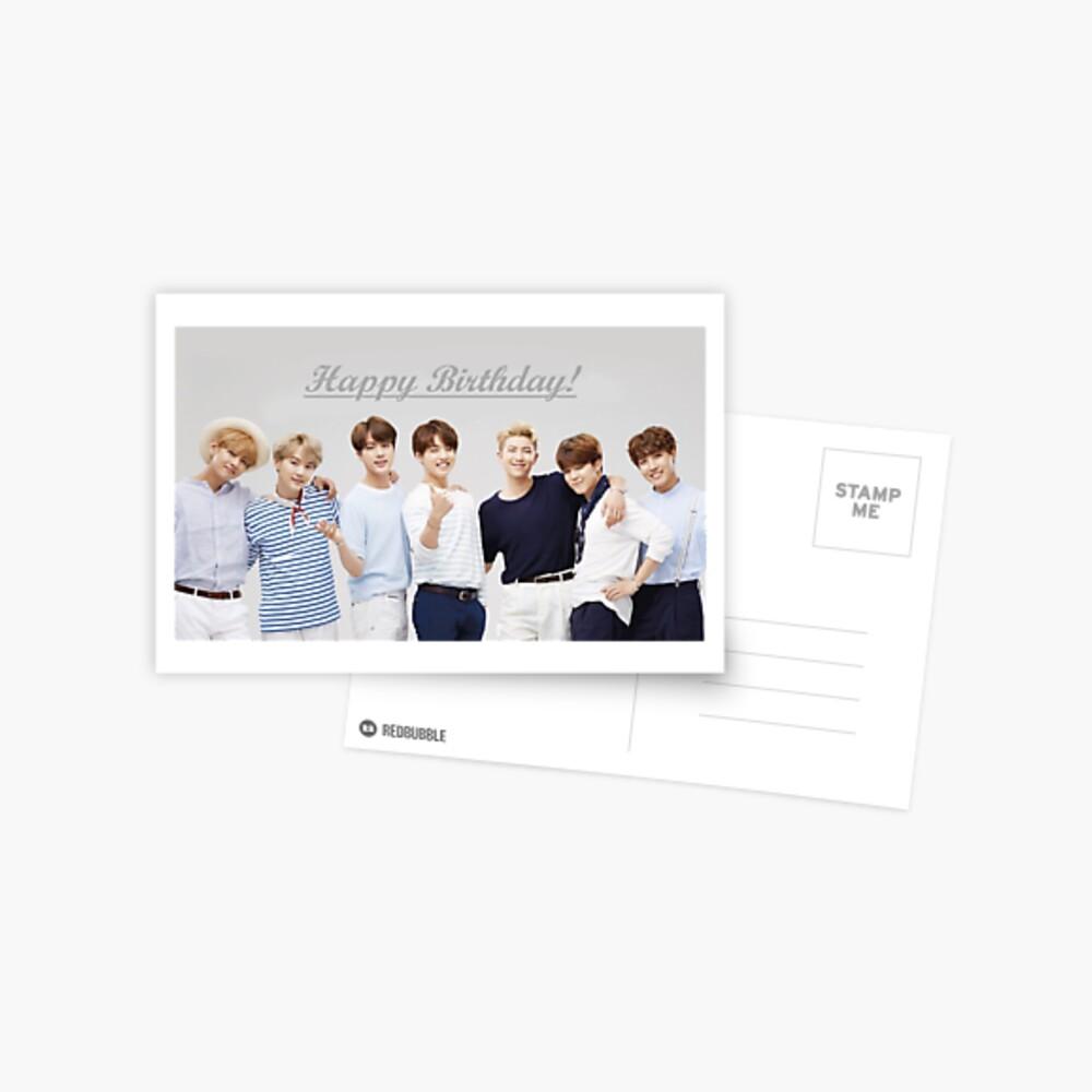 """Feliz cumpleaños"" - BTS Postal"