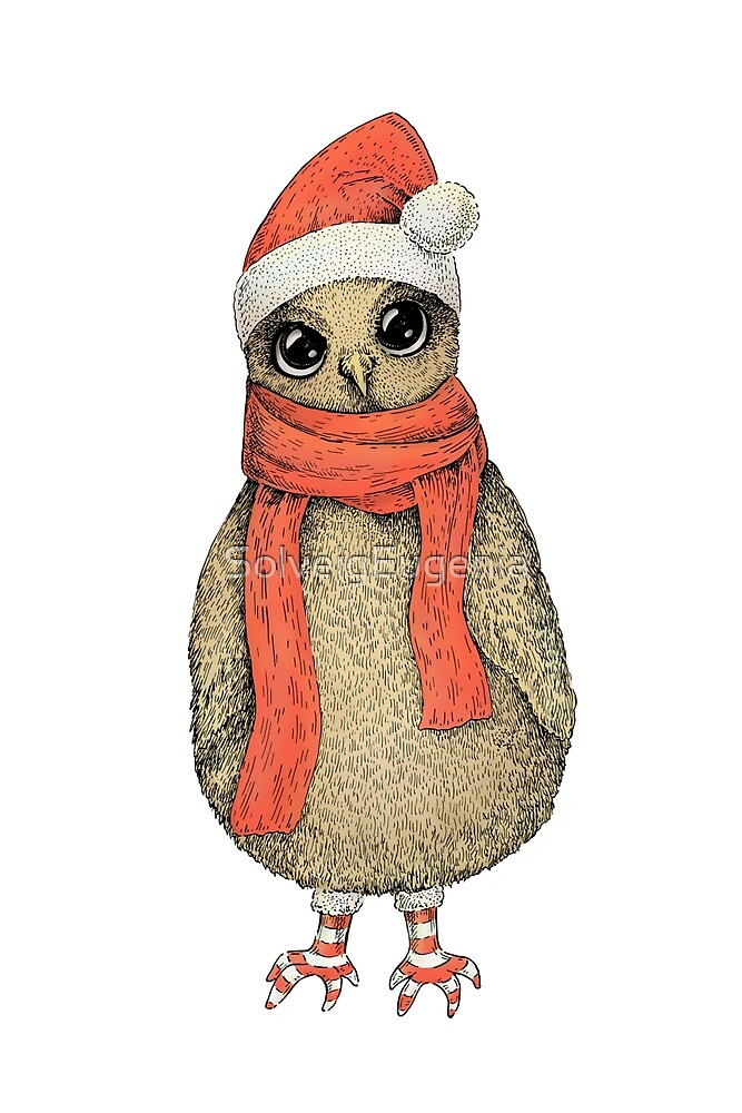 Christmas Owl by SolveigEugenia