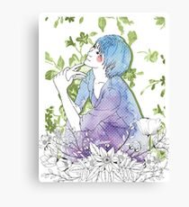 Girl's Diary Collection - Spring Canvas Print